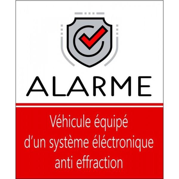Autocollant véhicule alarme système anti effract...