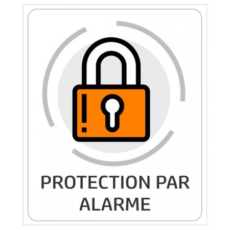 Autocollant ou plaque alarme pour maison cadenas