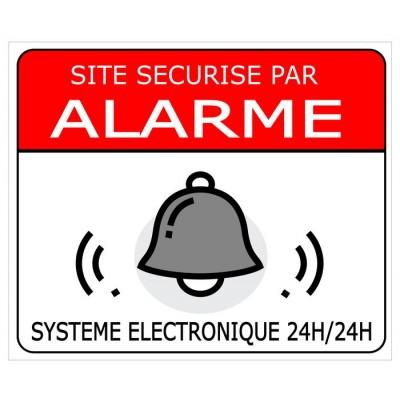 Site sécurisé par alarme avec système électron...