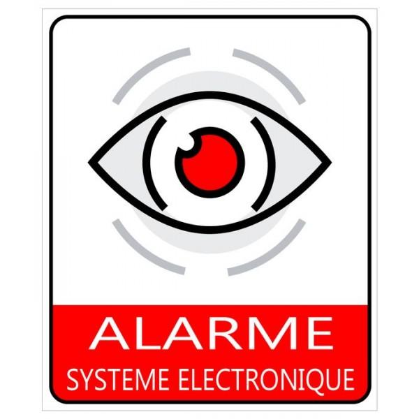 Autocollant et plaque alarme électronique protect...