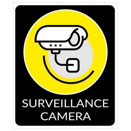 Protection maison et bureau autocollant et plaque vidéo surveillance