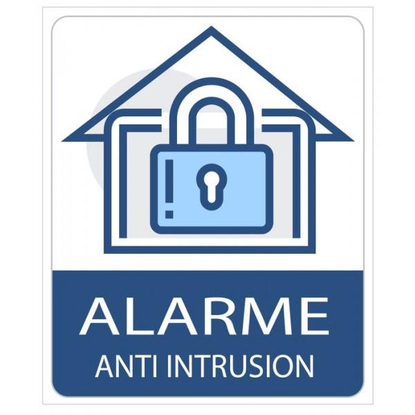 Autocollant dissuasif voleur alarme maison