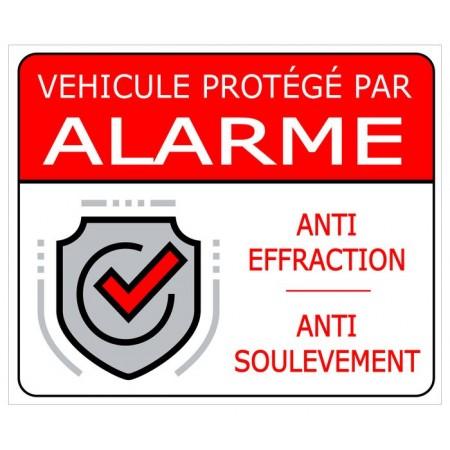 Autocollant alarme pour voiture et véhicule utilitaires