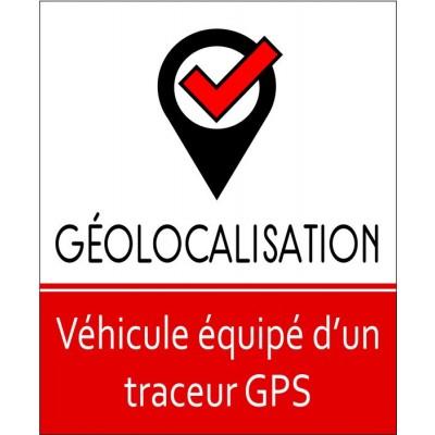 Autocollant véhicule géolocalisé