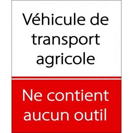 Autocollant véhicule transport agricole ne contient aucun outil