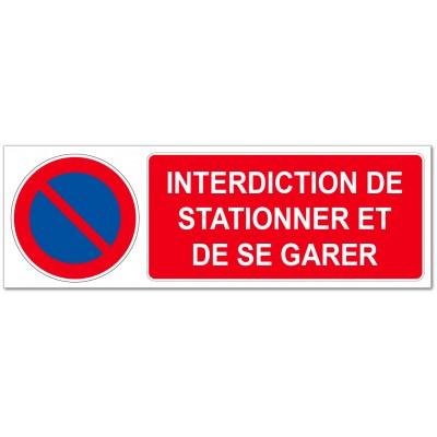 Panneau ou adhésif rectangulaire interdit de se g...