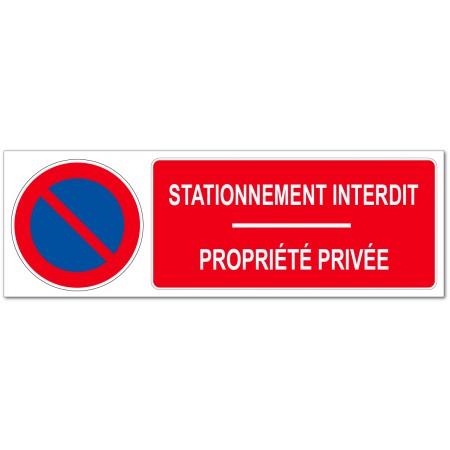 Panneau ou adhésif propriété privée, défense de stationner
