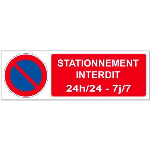 Panneau ou adhésif interdiction de stationner 24 ...