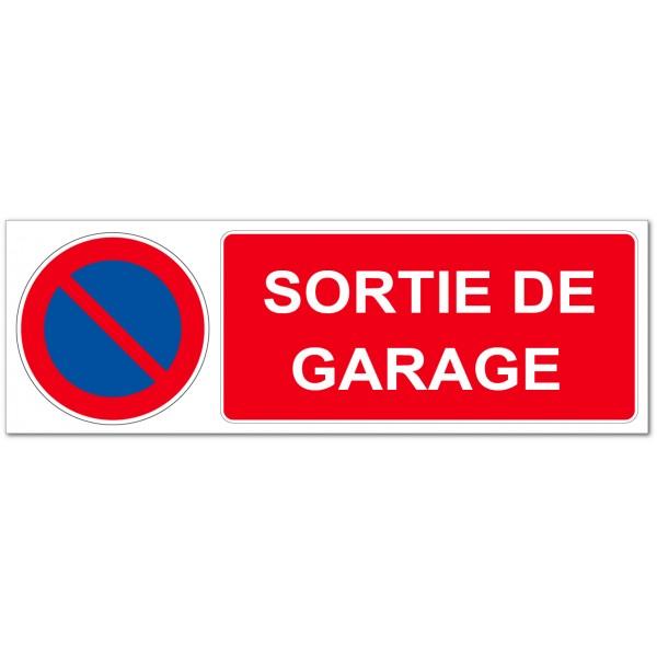 Panneau ou autocollant interdiction de stationner ...