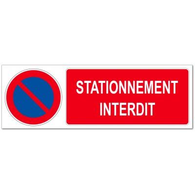 Panneau ou autocollant logo et information interdi...