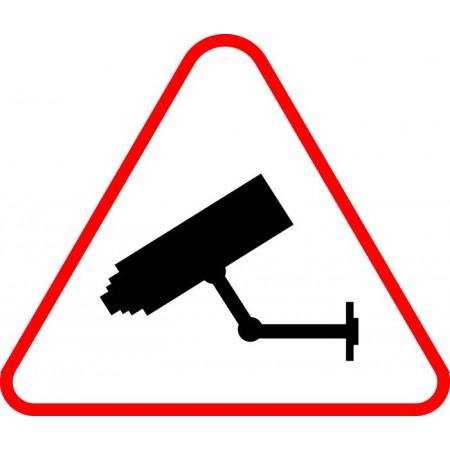 Sécurité entreprise par alarme et vidéo surveillance, autocollant et panneau