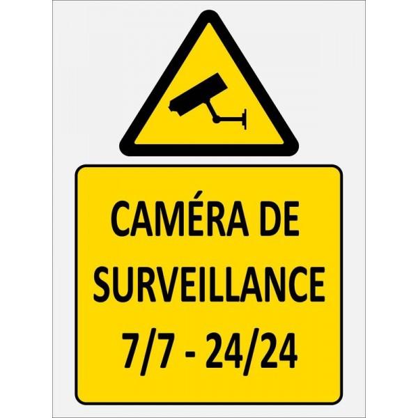 Autocollant et panneau caméra de surveillance 7 j...