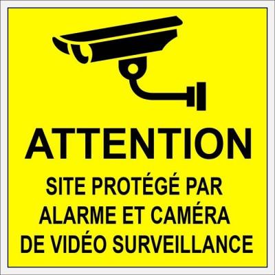 Autocollant et plaque de sécurité contre voleurs