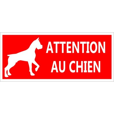Attention chien méchant fond rouge contre voleur ...