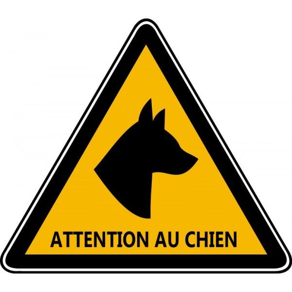 Autocollant et panneau triangle d'avertissement co...