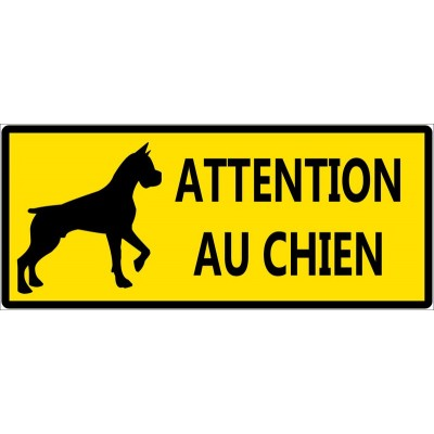 Attention chien méchant contre cambrioleur autoco...