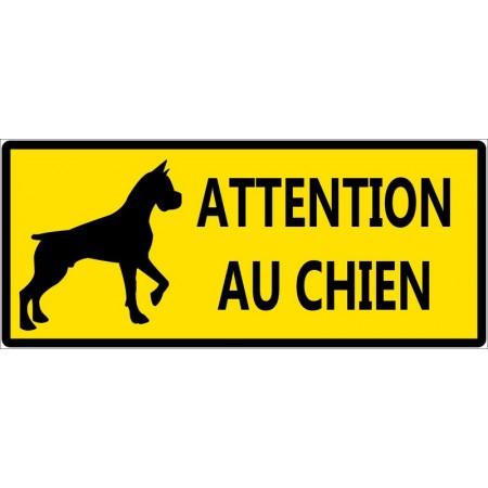 Attention chien méchant contre cambrioleur autocollant ou panneau