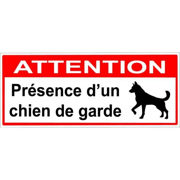Attention présence d'un chien de garde dans la ma...