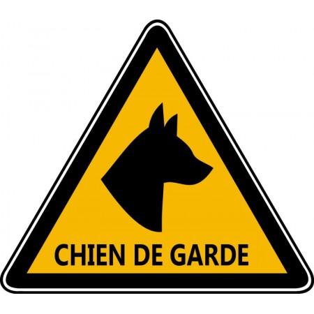 Pictogramme chien de garde pour portail en autocollant et panneau