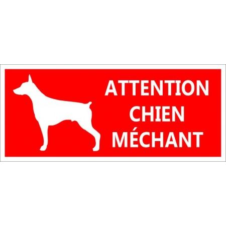 Autocollant et panneau de prévention pour portail, chien méchant