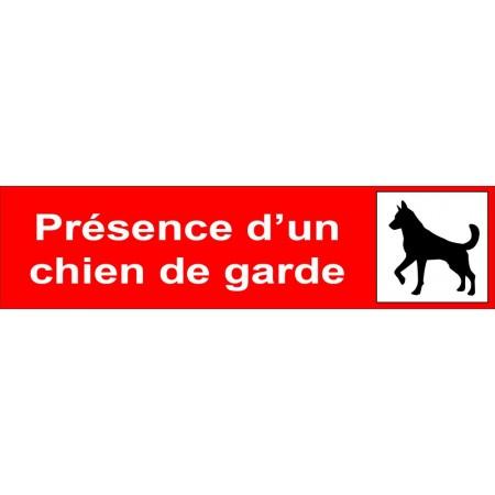 Attention au chien, plaque ou autocollant pour portail