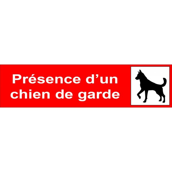 Attention au chien, plaque ou autocollant pour por...