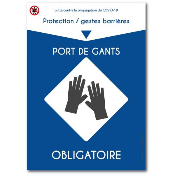 Lutte coronavirus port gants obligatoire