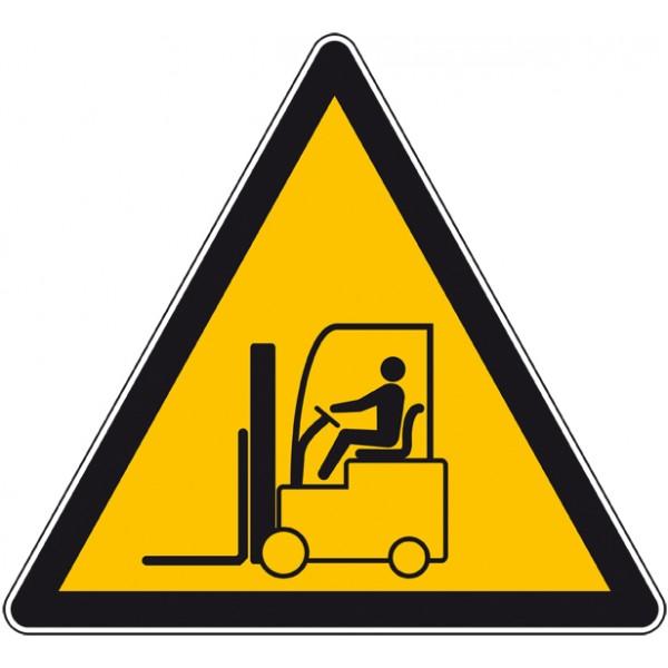 Autocollant ou panneau danger chariot élévateur