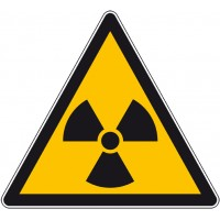 Panneau ou autocollant danger radioactivité