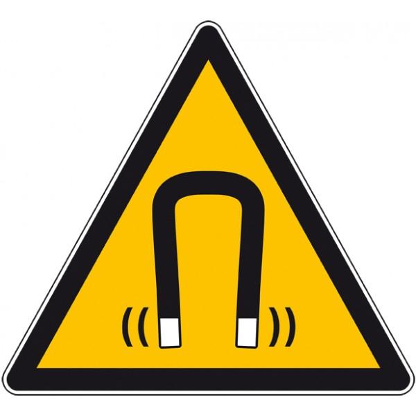 Autocollant,  panneau danger champ magnétique