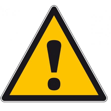 Autocollant et panneau de sécurité danger général