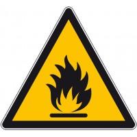 Autocollant et panneau danger produits inflammable...