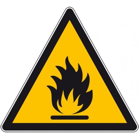 Autocollant et panneau danger produits inflammables