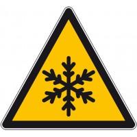 Panneau autocollant danger froid et gel