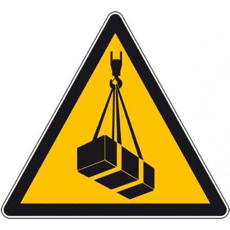 Panneau ou autocollant danger charge suspendue