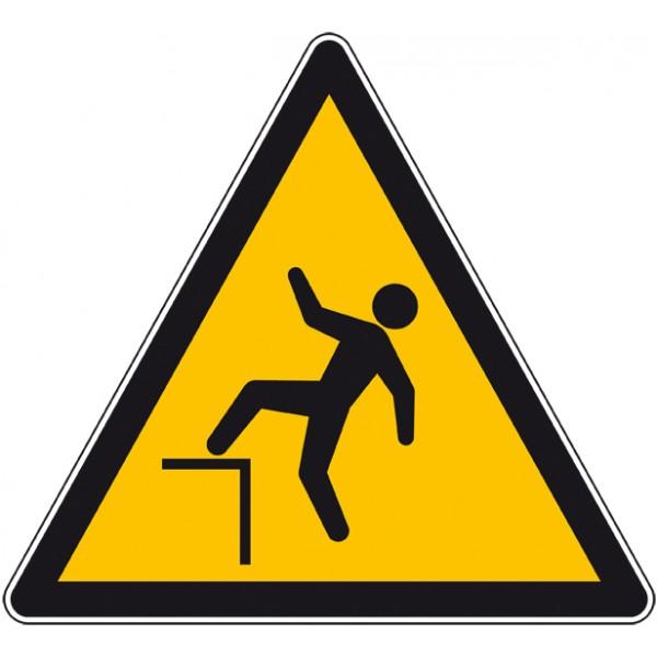 Panneau ou autocollant danger chute