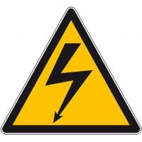 Panneau ou autocollant danger électrique