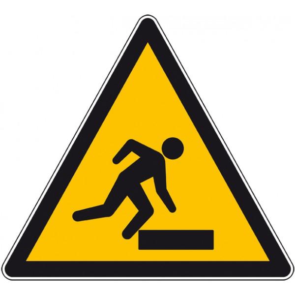 Autocollant ou panneau danger de trébuchement