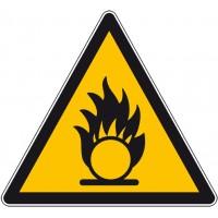 Panneau ou adhésifs danger sécurité comburant