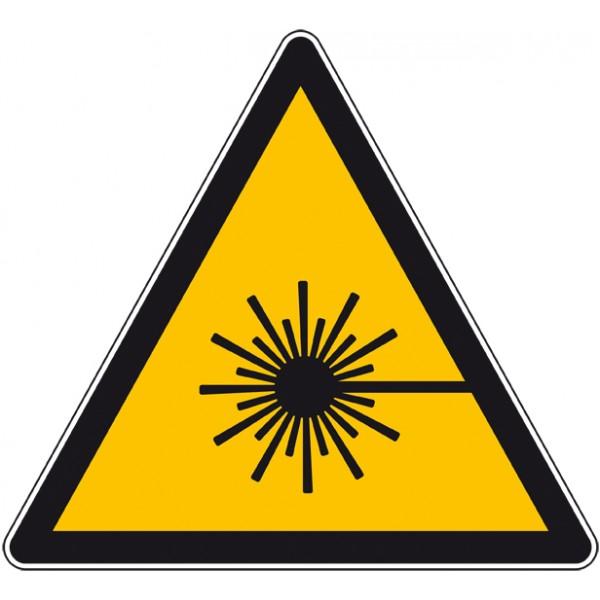 Panneau ou autocollant danger rayonnement laser