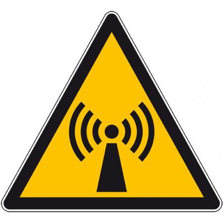Panneau ou autocollant danger radiation non ionisante