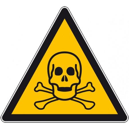 Adhésif ou plaque danger produit toxique