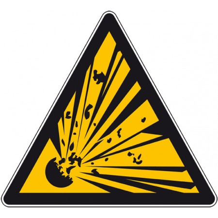 Adhésif ou plaque danger produit explosif