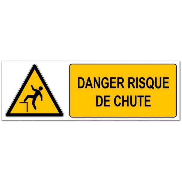 Risque de chute, affichage de prévention des dang...