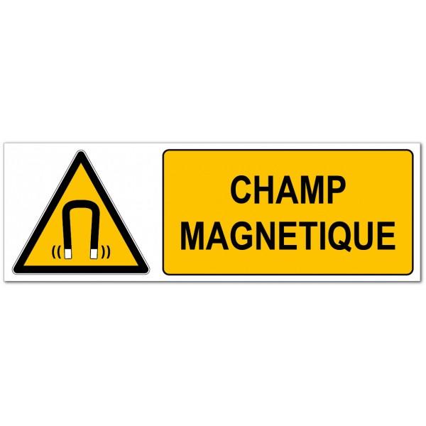 Champ magnétique signalétique de prévention des...