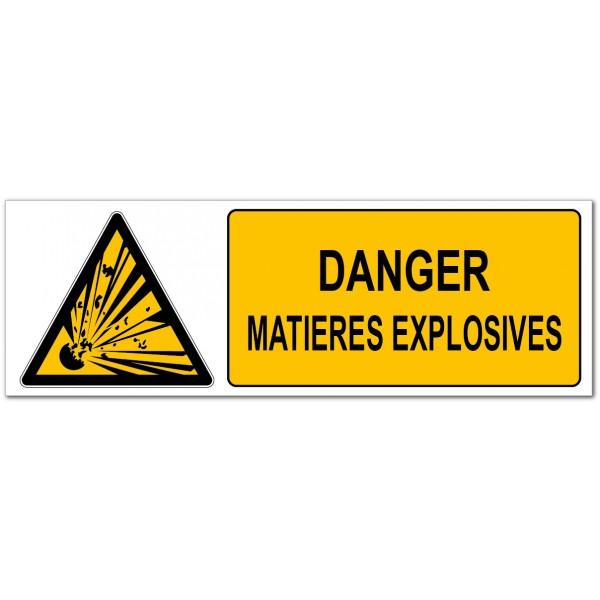 Matières explosives, signalétique de prévention...