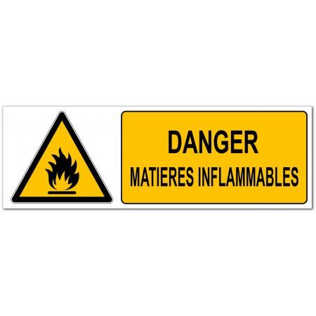 Danger matières inflammables, signalétique de prévention des risques en entreprise