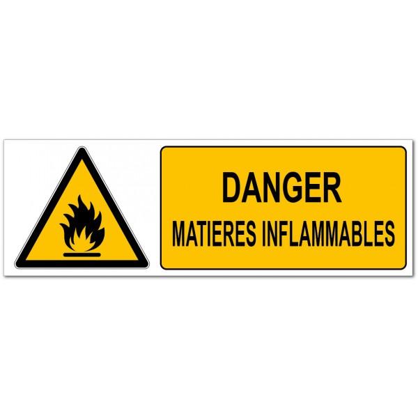 Danger matières inflammables, signalétique de pr...