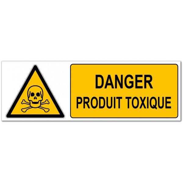 Danger produit toxique, signalétique de préventi...