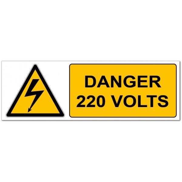 Danger électrique 220 volts
